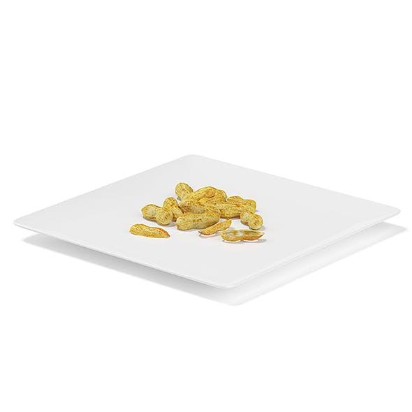 Peanuts on White Plate