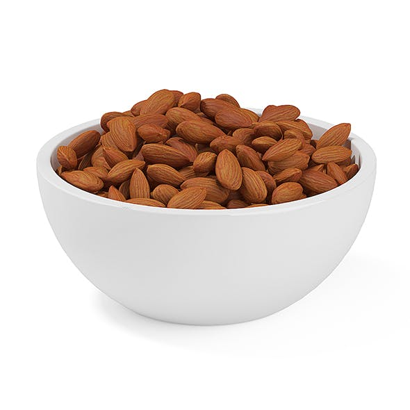 Bowl of Almonds - 3DOcean Item for Sale