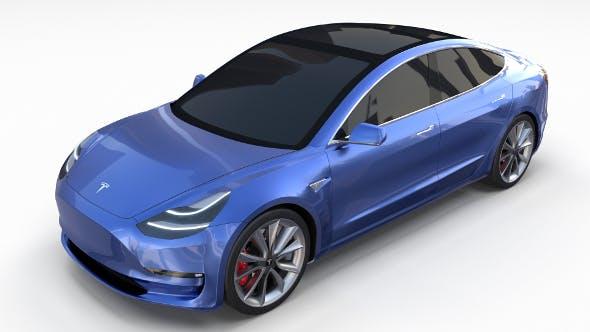 Tesla Model 3 - 3DOcean Item for Sale