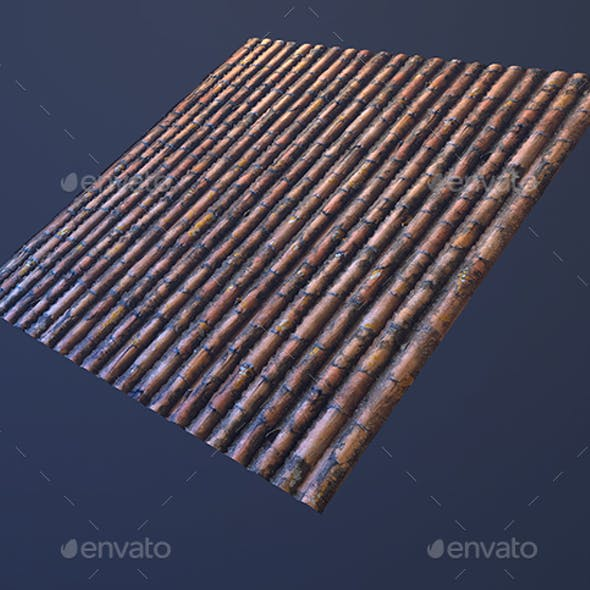 Roof tilable texture