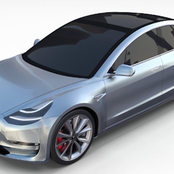 Tesla Model 3 Silver