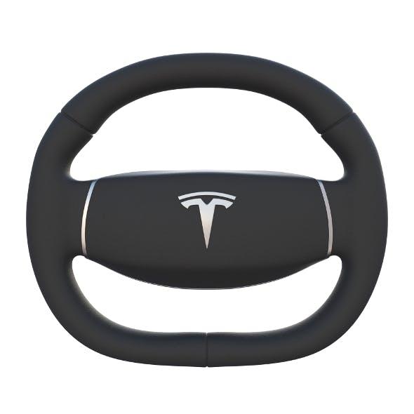 Tesla Model 3 Steering Wheel - 3DOcean Item for Sale