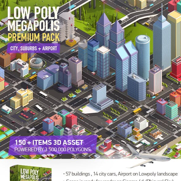 Isometric CG Textures & 3D Models from 3DOcean