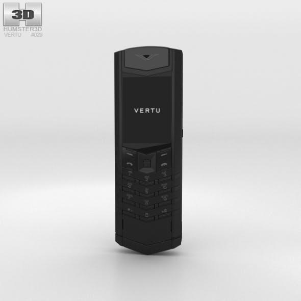 Vertu Signature Pure Black - 3DOcean Item for Sale
