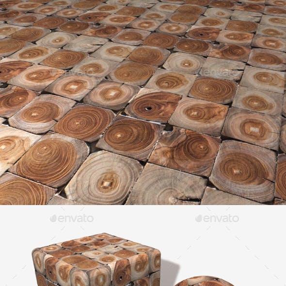 Decorative Wooden Tiles Seamless Texture
