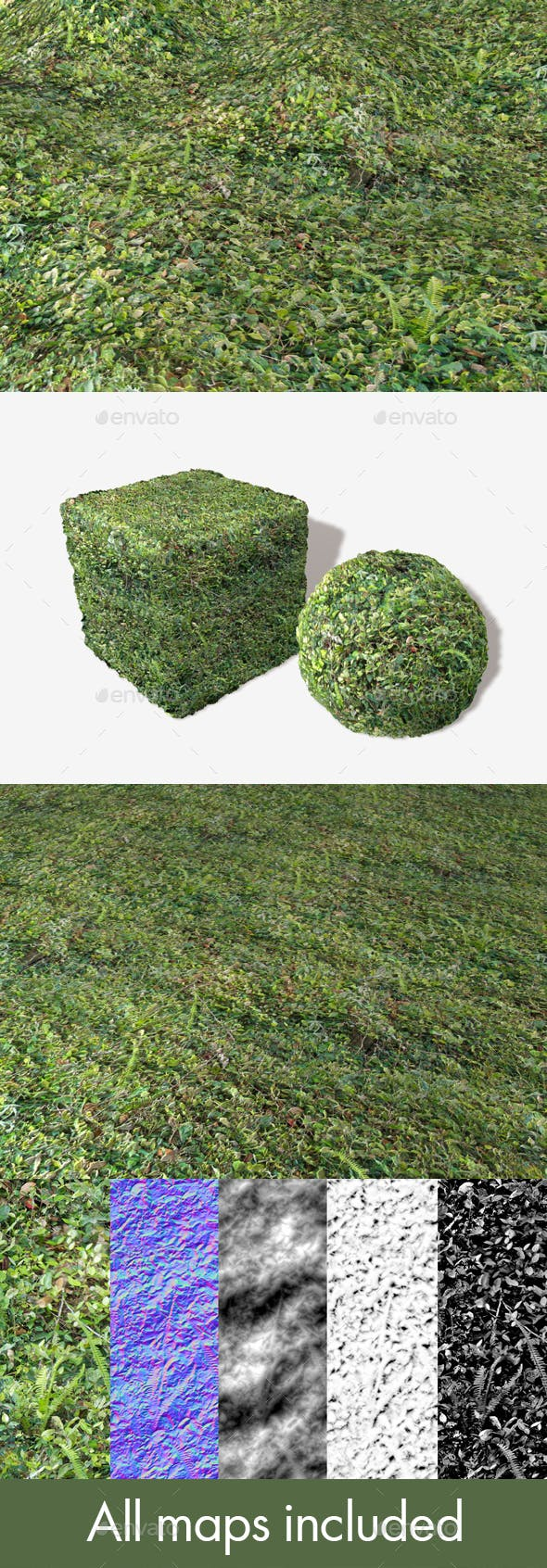 Dense Forest Floor Seamless Texture - 3DOcean Item for Sale