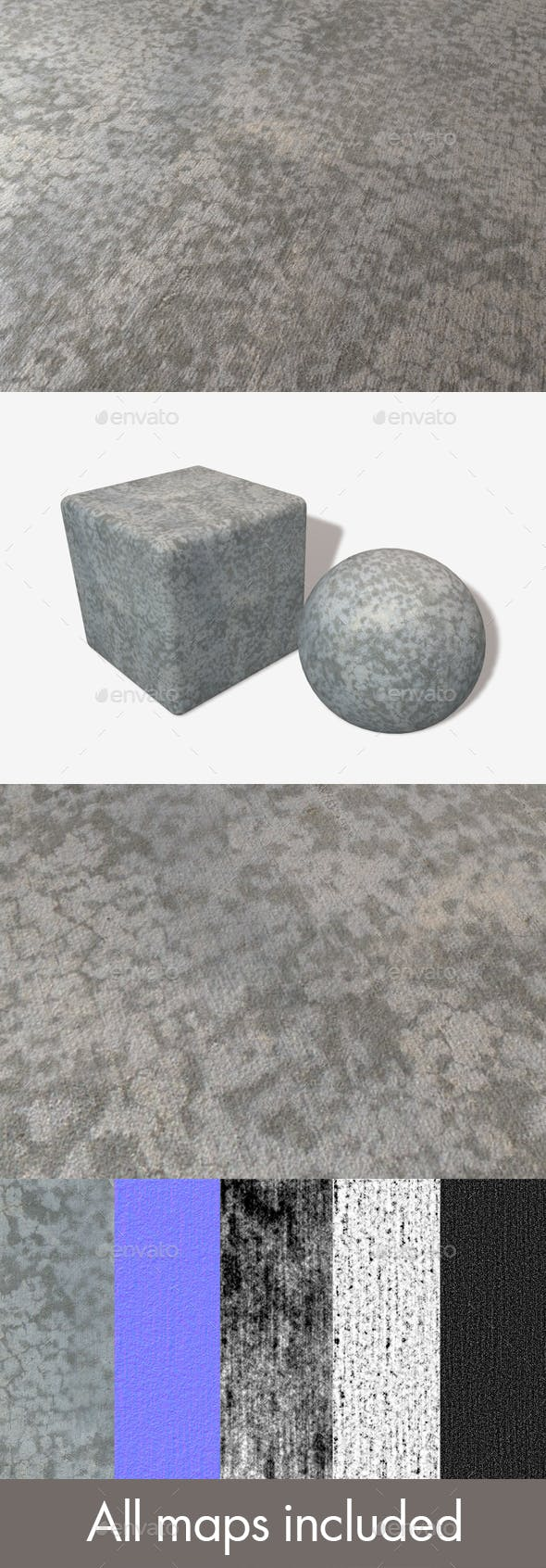 Drying Concrete Seamless Texture - 3DOcean Item for Sale