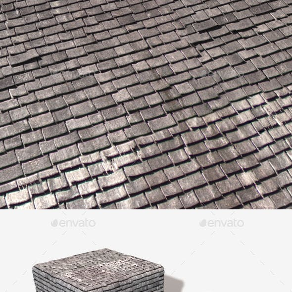 Rickety Old Roof Tiles Seamless Texture