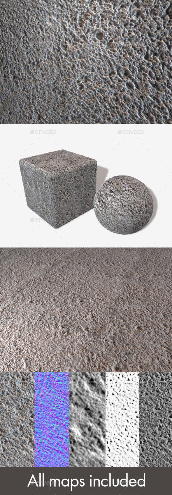 Textured Concrete Seamless Texture - 3DOcean Item for Sale