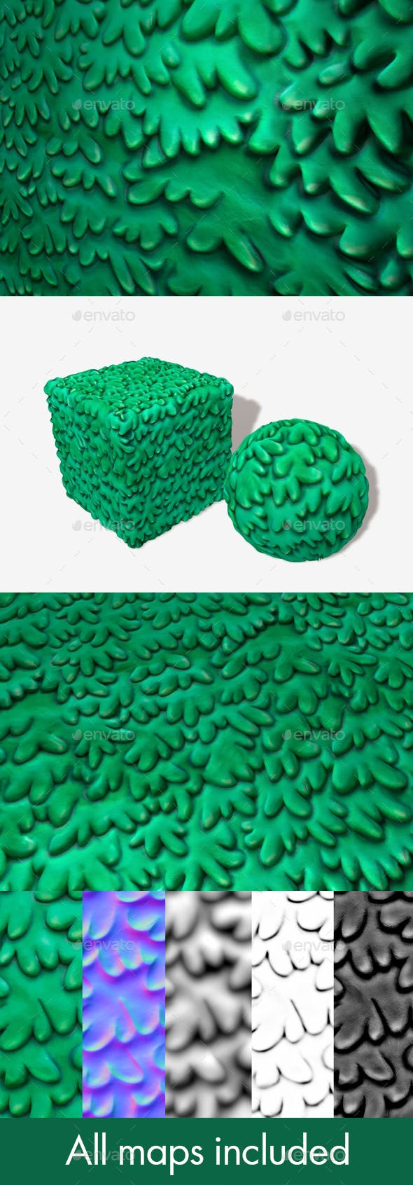 Toon Shrubbery Seamless Texture - 3DOcean Item for Sale