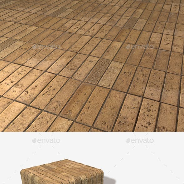 Uniform Brick Tiles Seamless Texture