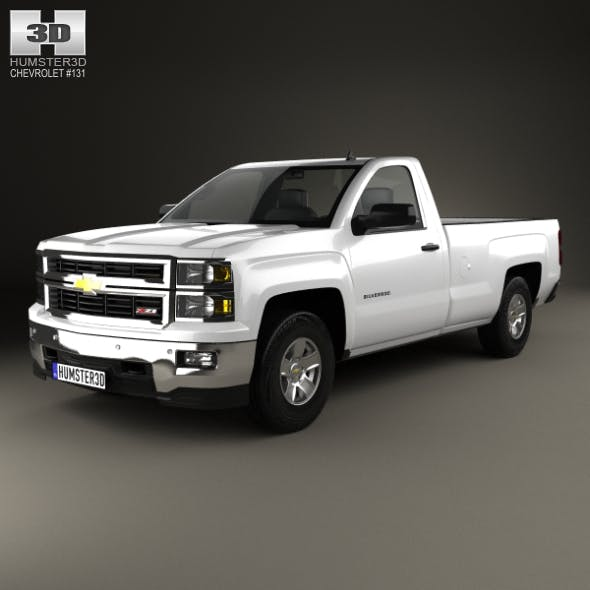 Chevrolet Silverado Regular Cab 2013 - 3DOcean Item for Sale
