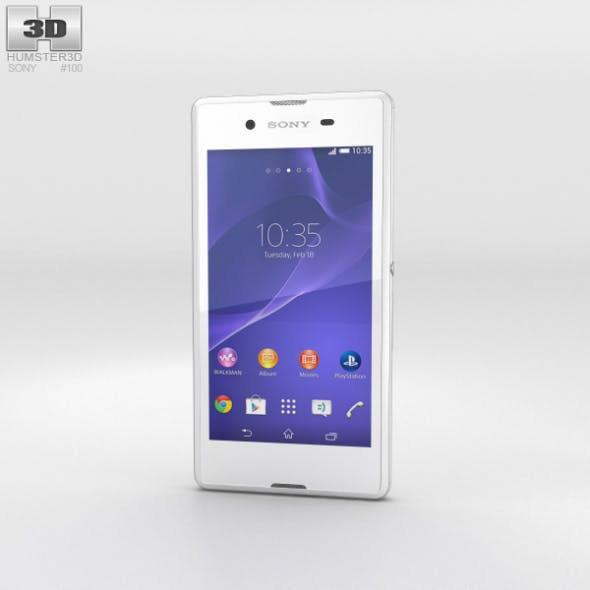 Sony Xperia E3 White - 3DOcean Item for Sale