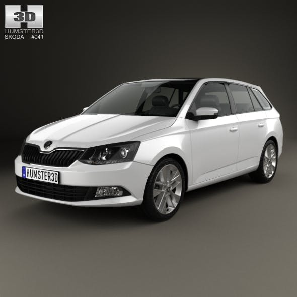 Skoda Fabia Combi 2015 - 3DOcean Item for Sale