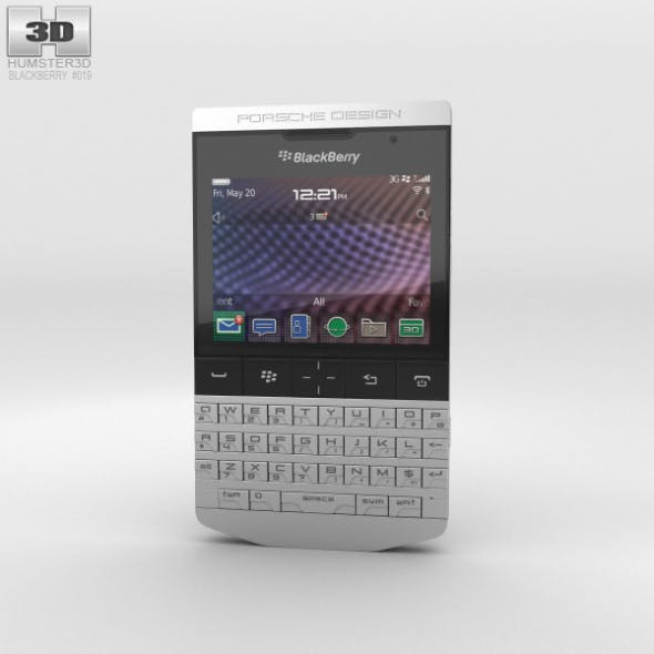 BlackBerry Porsche Design P'9981 Gray - 3DOcean Item for Sale