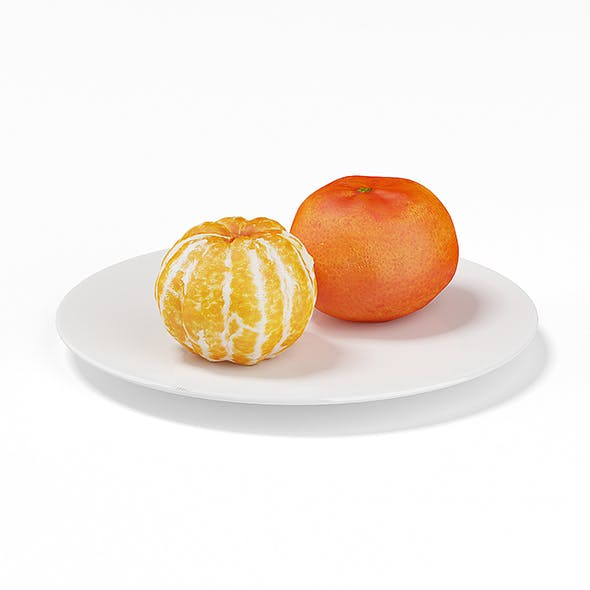 Tangerines on White Plate