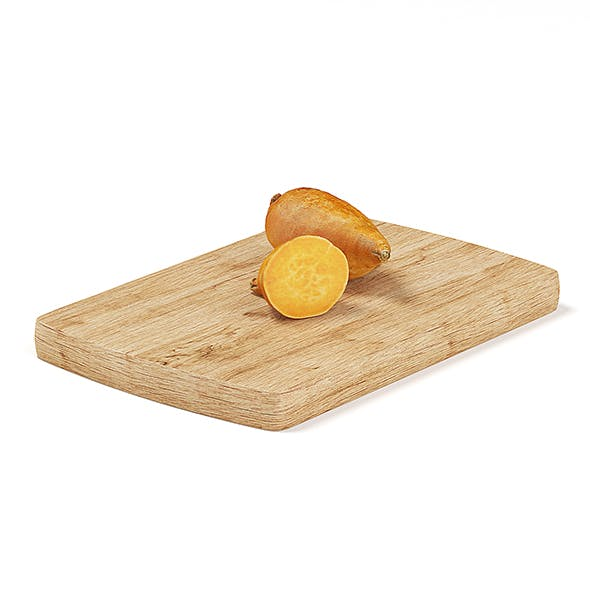 Cutted Yams on Wooden Board - 3DOcean Item for Sale