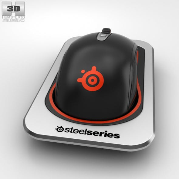 SteelSeries Sensei Wireless Laser Mouse - 3DOcean Item for Sale