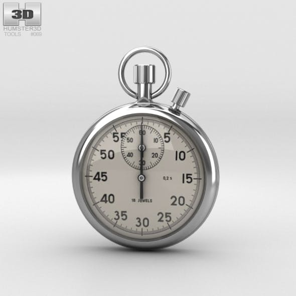Mechanical Stopwatch - 3DOcean Item for Sale