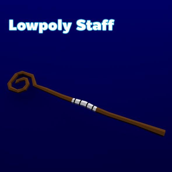 Lowpoly Staff