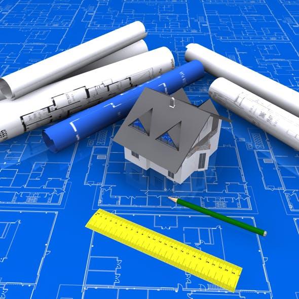 Architectural Blueprint house