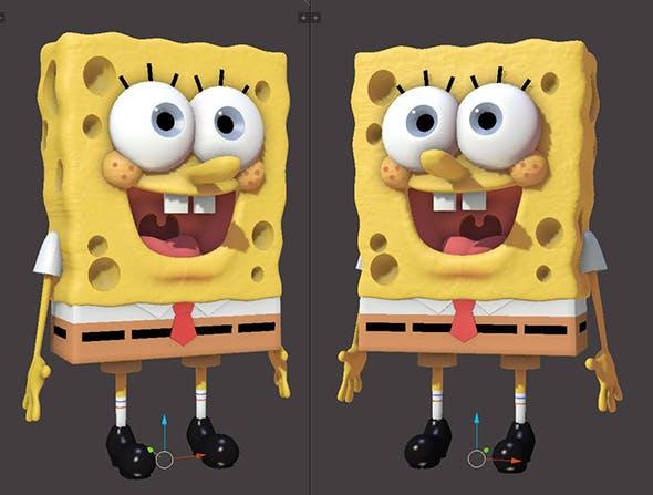 Sponge Bob 3D Model (Rigged) - 3DOcean Item for Sale