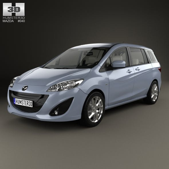 Mazda 5 with HQ interior 2010 - 3DOcean Item for Sale