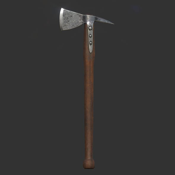 AAA Viking medieval one-handed axe 05