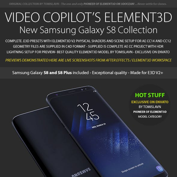 Element3D - Samsung Galaxy S8 Collection