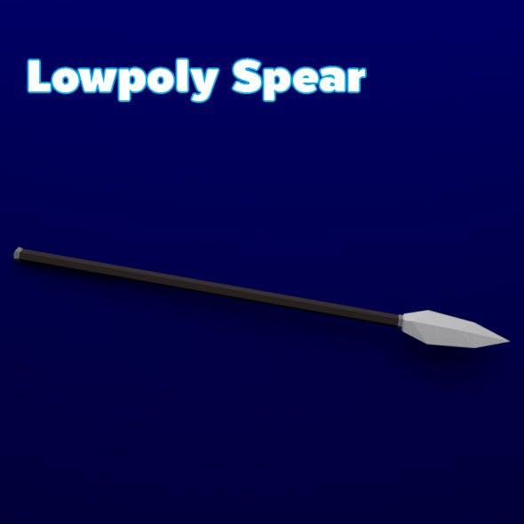 Lowpoly Spear - 3DOcean Item for Sale