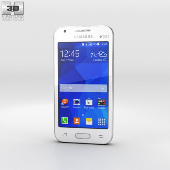 Samsung Galaxy V White - 3DOcean Item for Sale