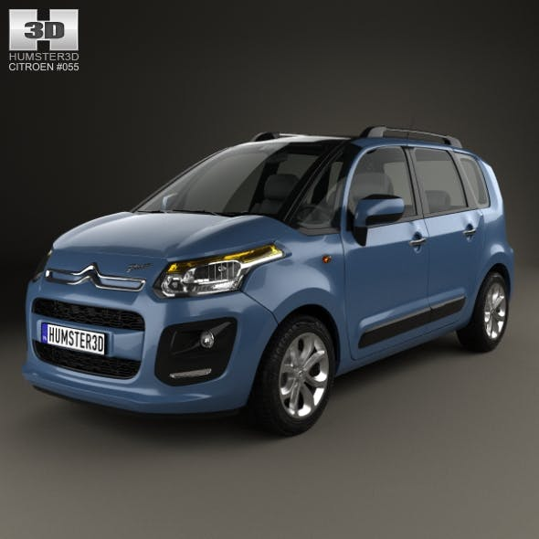 Citroen C3 Picasso 2013 - 3DOcean Item for Sale