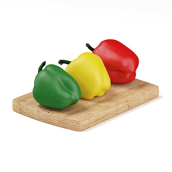 Red Yellow and Green Peppers - 3DOcean Item for Sale