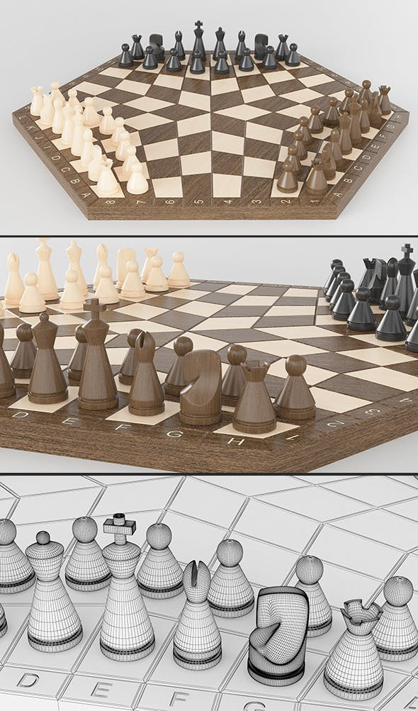 Three-player chess (Three-handed) - 3DOcean Item for Sale