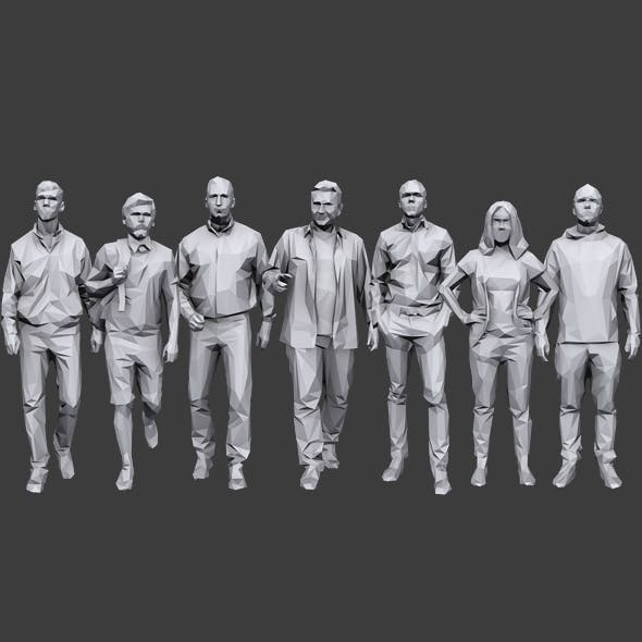 Lowpoly People Casual Pack Vol.8