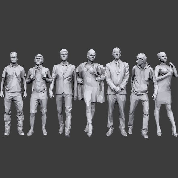 Lowpoly People Casual Pack Vol.10