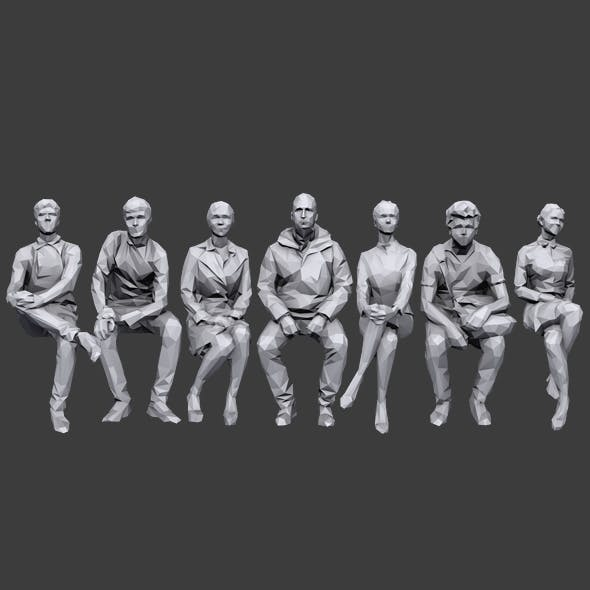 Lowpoly Sitting People Pack Vol. 2