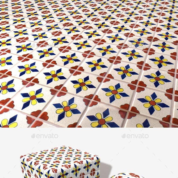 Hand Painted Tiles Seamless Texture