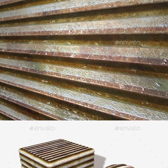 Rusty Metal Grate Seamless Texture