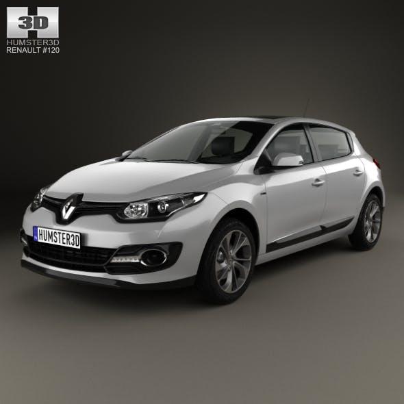 Renault Megane hatchback 2014 - 3DOcean Item for Sale