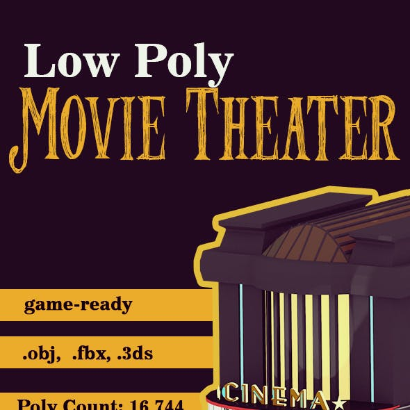 Low Poly Retro Movie Theater