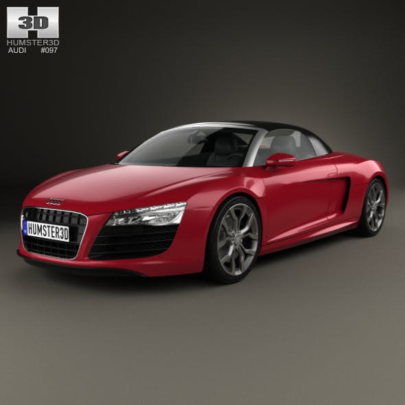 Audi R8 Spyder 2013 - 3DOcean Item for Sale