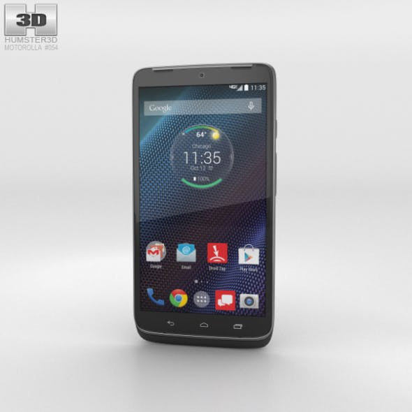 Motorola Droid Turbo Metallic Black - 3DOcean Item for Sale