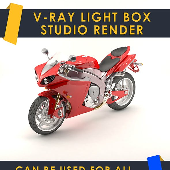 Vray light box studio render scene