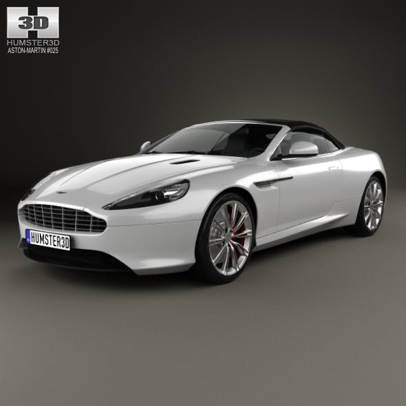 Aston Martin DB9 Volante 2013 - 3DOcean Item for Sale