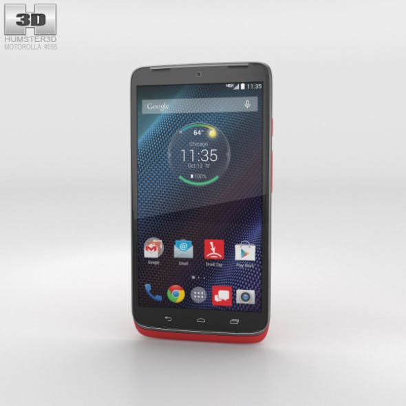 Motorola Droid Turbo Metallic Red - 3DOcean Item for Sale