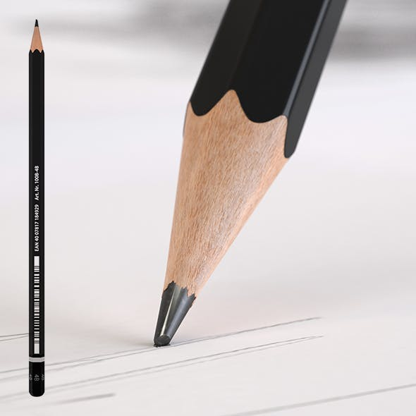 HD Black  Pencil - 3DOcean Item for Sale