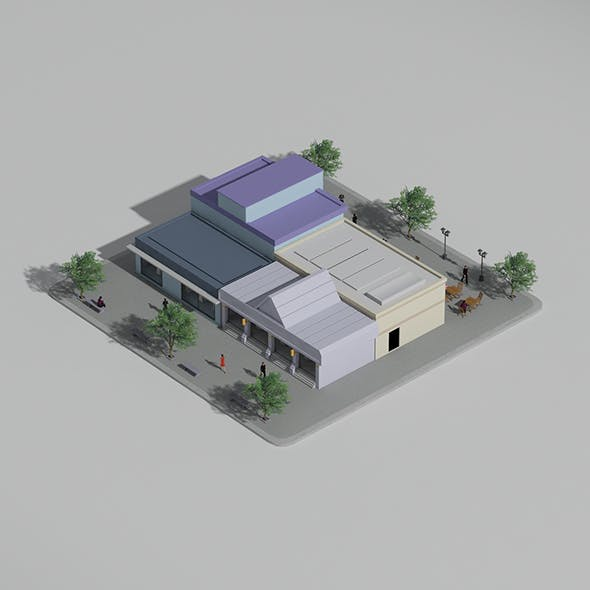 Low Poly Block (Shops)