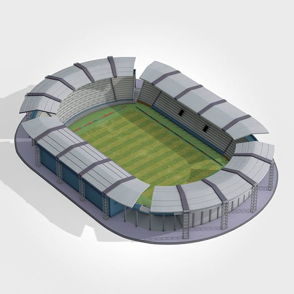Lowpoly Stadium - 3DOcean Item for Sale