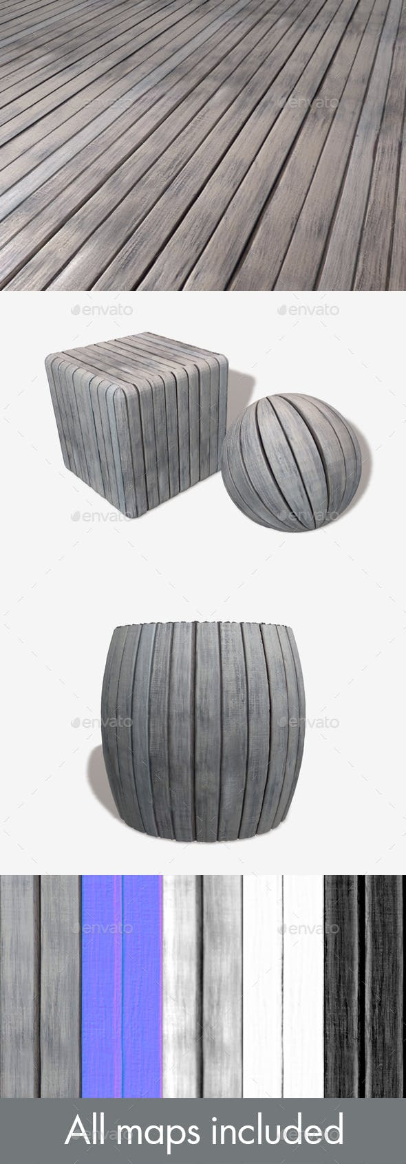Grey Wooden Planks Seamless Texture - 3DOcean Item for Sale